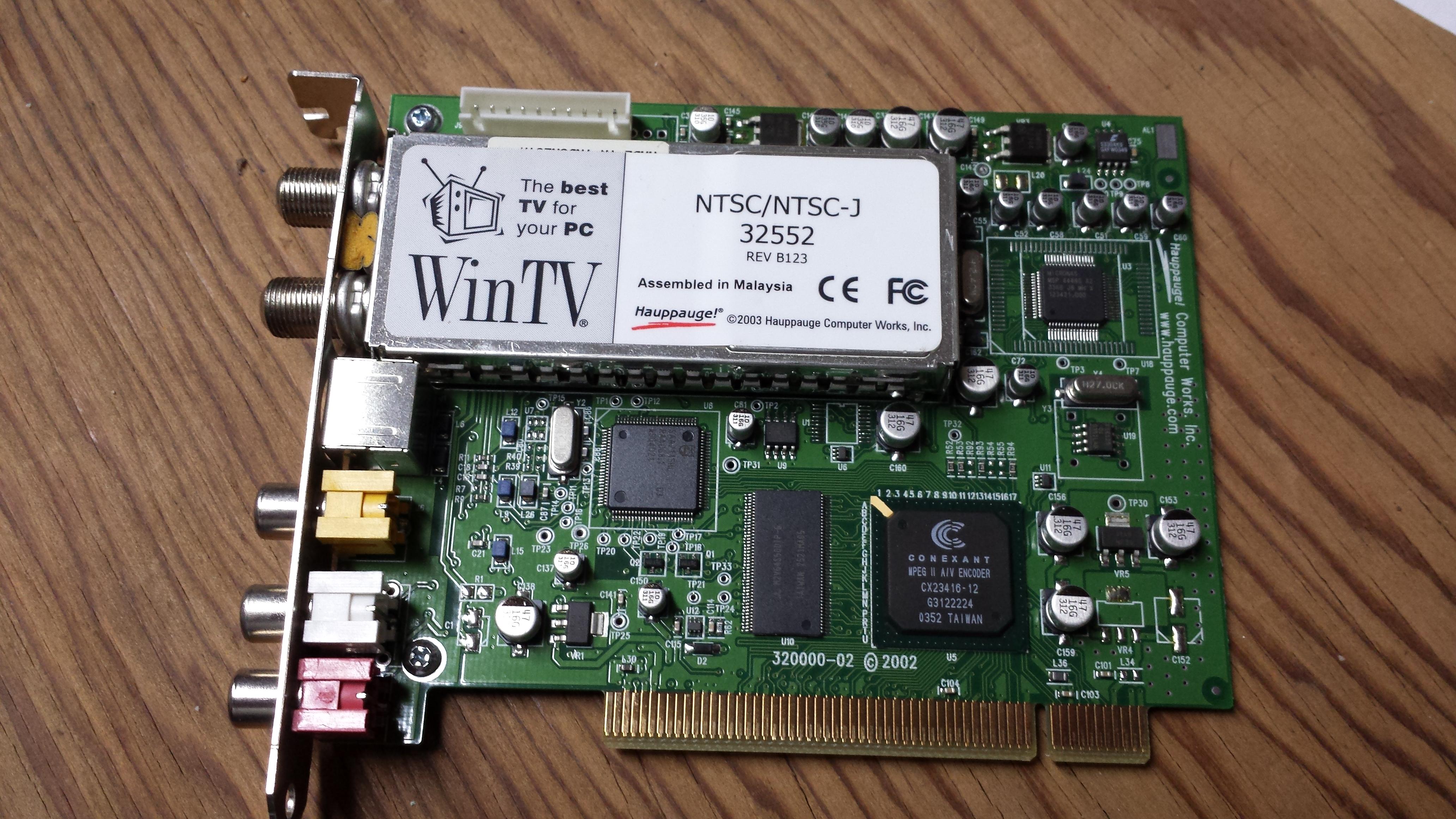 Hauppauge WinTV PCI 32552